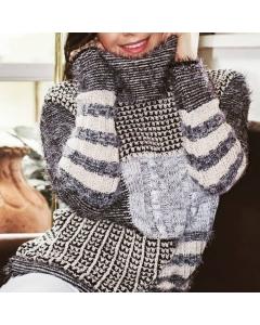 Malha e Sueter de tricot modal com fios de lurex Gabifit