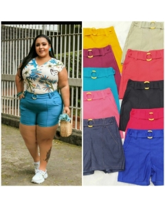 Shortinho Ivone Plus Size Vicky Modas